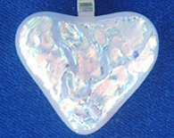 Pink Dichroic Heart Pendant