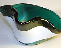 Green and White Candy Dish