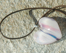 Pink & purple heart pendant