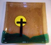 Brown Cross Plate