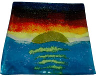 Sunset plate