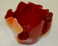 Tealight Red & Orange Glass